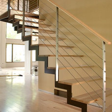 Modern Staircase by Iron & Wire LLC