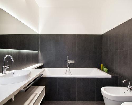 Bagni Moderni Con Pietra : Bagno moderno con lastra di pietra foto idee arredamento