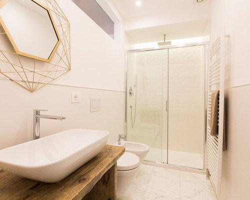 Bagno con pavimento in marmo foto idee arredamento - Top bagno gres porcellanato ...