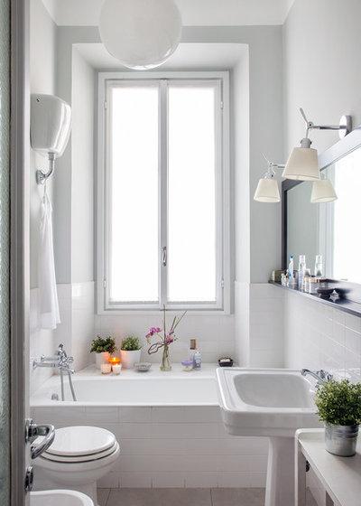 Le case di houzz arte e design nella casa nido in un for Piastrelle bianche 10x30