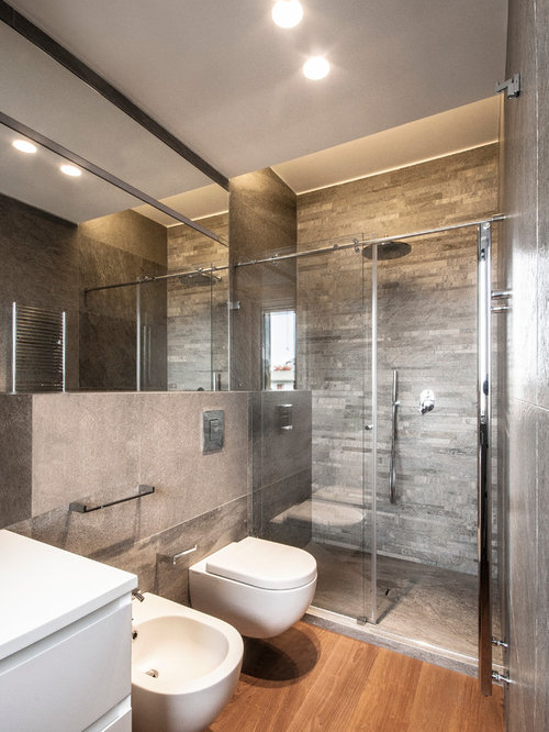 Foto e idee per bagni bagno con pavimento in legno - Pavimento in legno per bagno ...