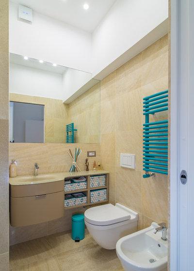 40 40 mq i segreti per rendere funzionali due mini piani for Bagno con piani sauna