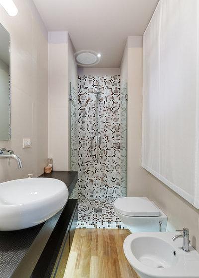 Scelti da voi come arredare un bagno stretto e lungo - Stanze da bagno moderne ...