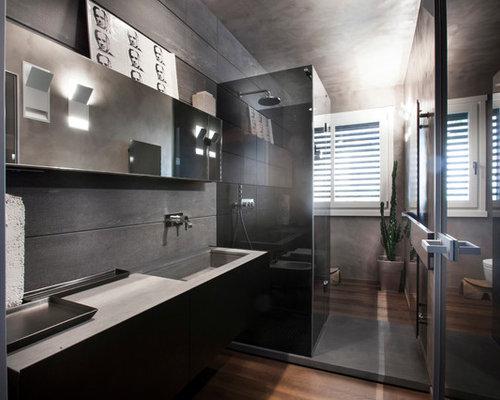 Idee e foto di stanze da bagno - Bagno con doccia grande ...