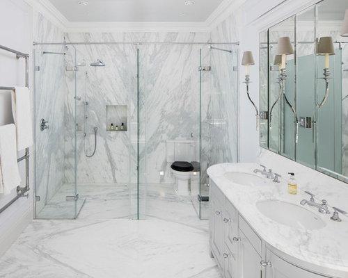 Bagno con top in marmo foto idee arredamento