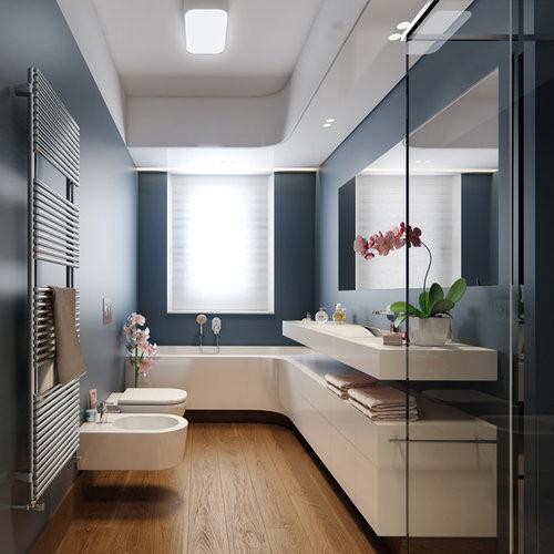 Colori per le pareti del bagno foto e idee houzz for Stanza da pranzo contemporanea