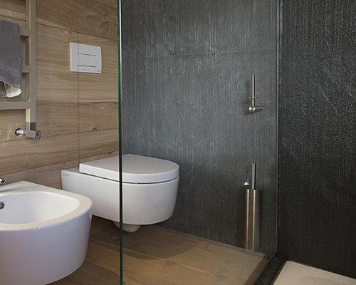 Foto e idee per bagni con pareti nere - Farfalline nere in bagno ...