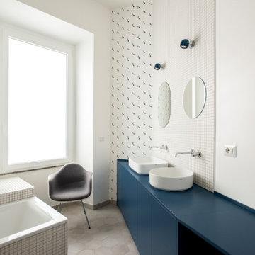 Bagno padronale con doppio lavabo