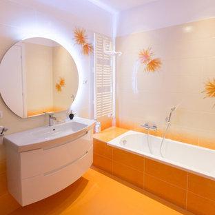 Foto di una piccola stanza da bagno contemporanea