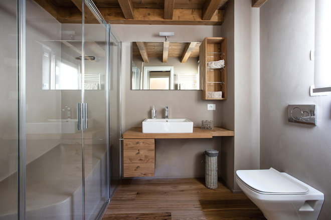 Rustic Bathroom by Haute Material