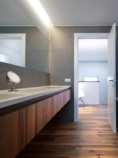 Bagno con top in marmo foto idee arredamento - Top legno massello bagno ...