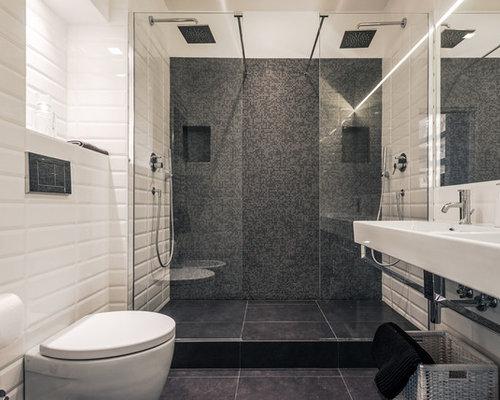 Bagno con piastrelle diamantate foto idee arredamento - Piastrelle diamantate bagno ...