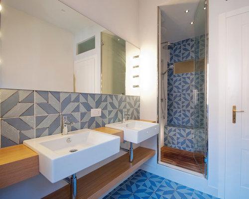 Foto e Idee per Stanze da Bagno - stanza da bagno con piastrelle ...