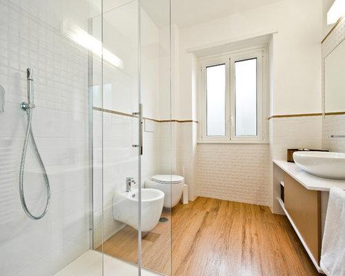 Foto e idee per bagni con piastrelle diamantate - Piastrelle diamantate bagno ...
