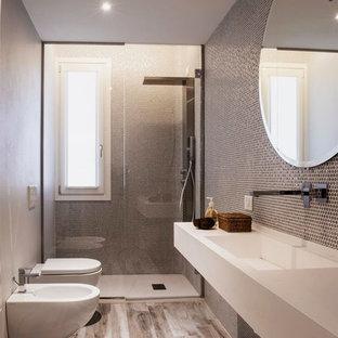 Stanza da bagno con pistrelle in bianco e nero Firenze - Foto, Idee, Arredamento