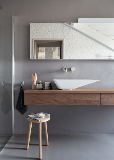 Scandinavo Stanza da Bagno by Studio Tenca & Associati