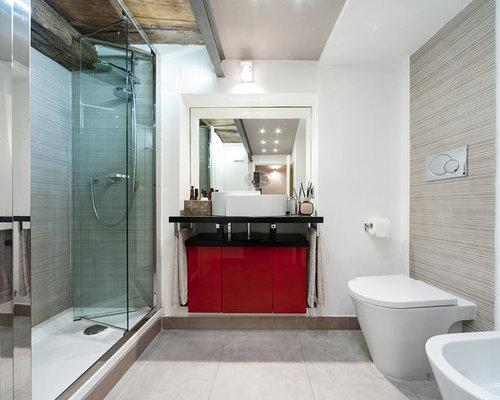 Bagno foto idee arredamento - Piastrelle bagno rosse ...