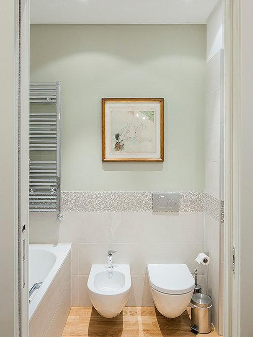 bagno moderno con pareti verdi - foto, idee, arredamento - Bagni Moderni Verdi