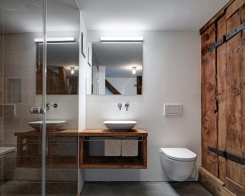 Bagno Legno E Grigio : Bagno con top in legno e nessunanta foto idee arredamento