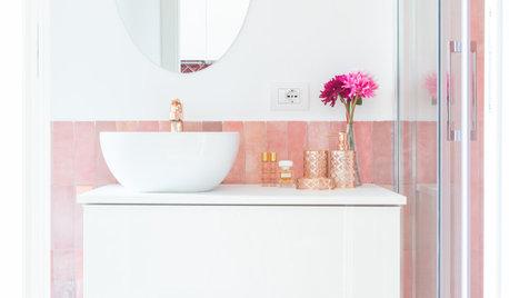 12 Ways With Clay Pink Bathroom Tiles