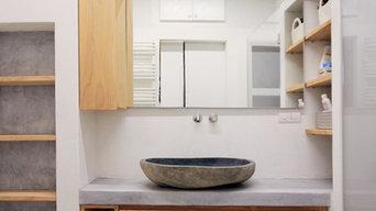 Design per bagno in resina