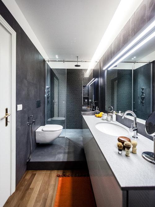 Piccola stanza da bagno contemporanea foto idee for Stanza da bagno