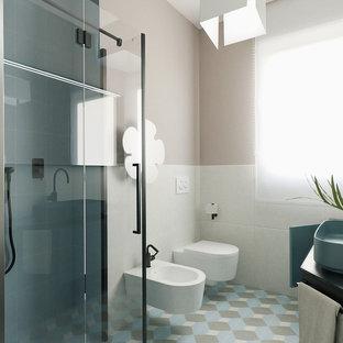 Bagno Scandinavo Con Ante Blu Foto Idee Arredamento