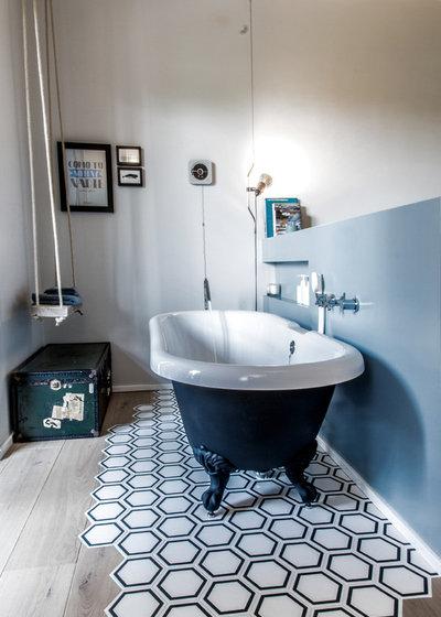 zwei bodenbel ge in einem raum wie holzboden mit fliesenboden kombiniert werden k nnen. Black Bedroom Furniture Sets. Home Design Ideas