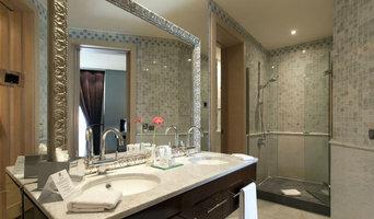 Mosaico in marmo per bagno su misura