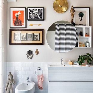 Eklektisches Badezimmer in Mailand