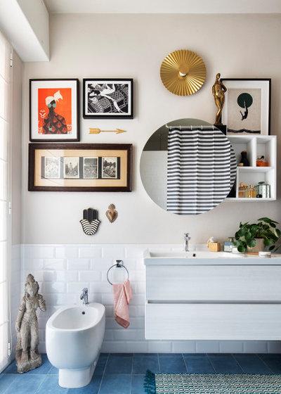 Eclectic Bathroom by Studio Paradisiartificiali