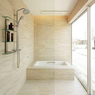 東京都下のコンテンポラリースタイルのおしゃれな浴室の写真