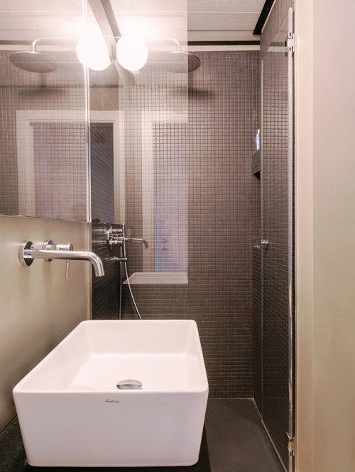 Bagno foto idee arredamento - Piastrelle grigie bagno ...