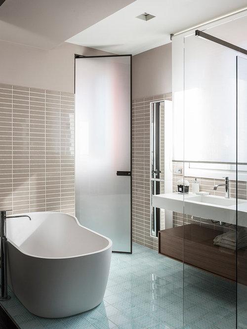 Bagno Marrone E Turchese: Progetti] Ristrutturare un bagno ...