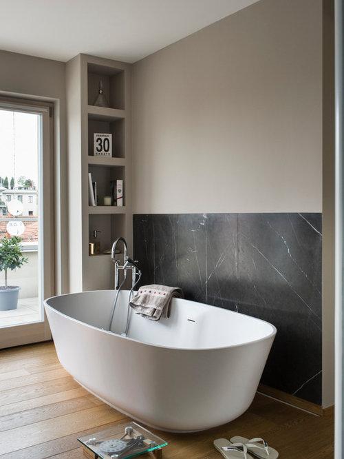 Foto e idee per bagni bagno moderno - Smalto per pareti bagno ...