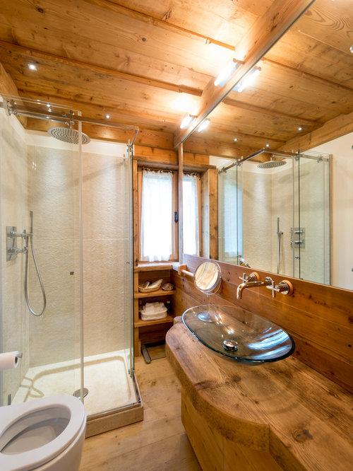 Stanza da bagno con top in laminato - Foto, Idee, Arredamento