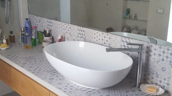 Restyling bagno con microcemento