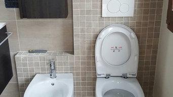 Ristrutturazione bagno di servizio con doccia