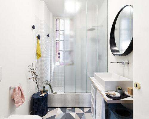 Bagno con mosaico. perfect good docce con mosaico particolare