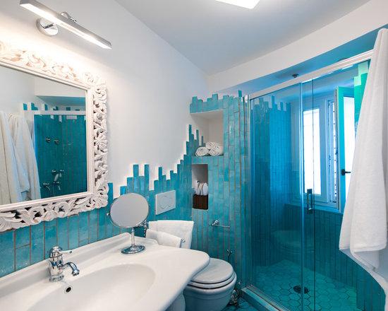 bathroom design ideas, remodels & photos with mosaic tile floors