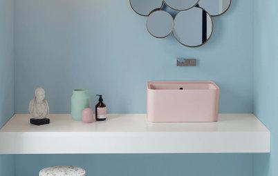 Neue Farben, Oberflächen, Materialien: 8 Bad- und Fliesentrends
