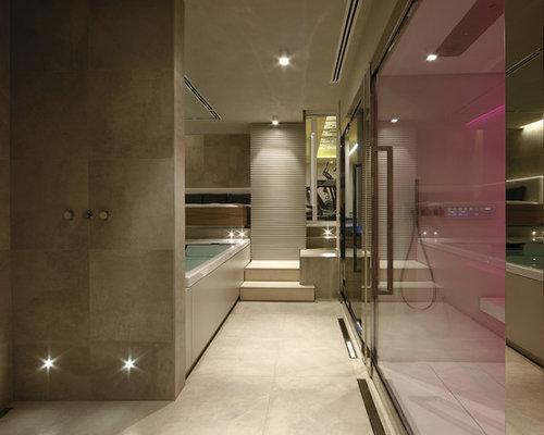 Bagno con pavimento in gres porcellanato foto idee for Stanza da pranzo contemporanea
