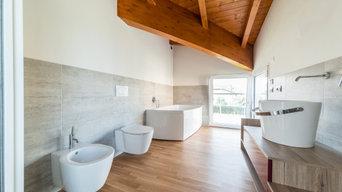 Villa Singola Cassano M.: Finiture e Design Bagno