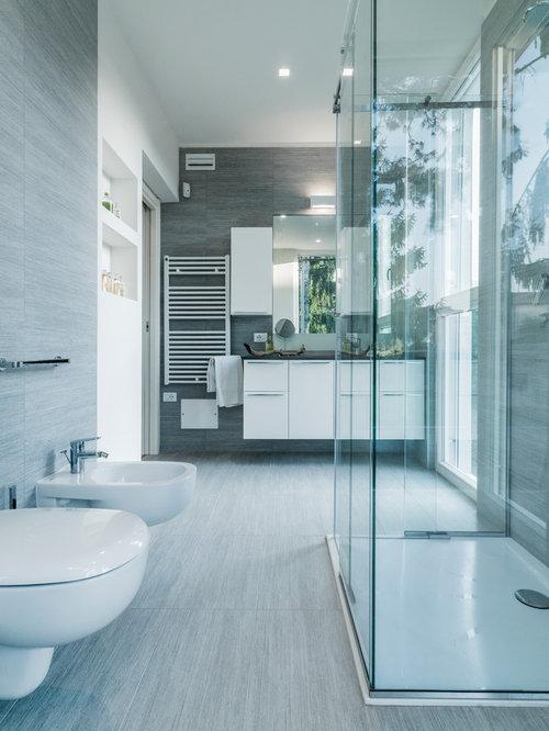 Foto e idee per bagni bagno con doccia con pavimento in - Bagni con doccia a pavimento ...