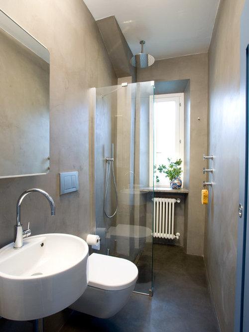 Foto e idee per bagni di servizio bagno di servizio - Finestra nella doccia ...