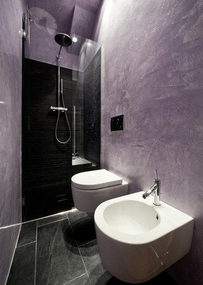 Bagni in resina per un bagno senza piastrelle - Pareti bagno senza piastrelle ...