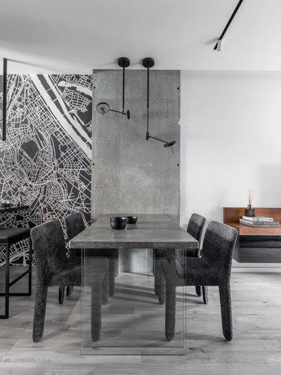 Современный Столовая by Архитектурная студия QUADRUM