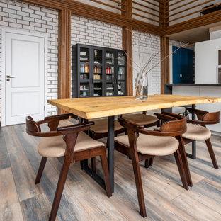 Идея дизайна: столовая в стиле лофт