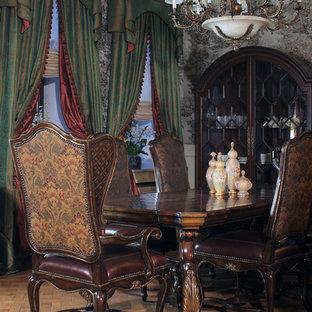 Пример оригинального дизайна: столовая в классическом стиле