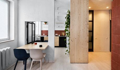 Houzz тур: 32 кв.м — квартира с внутренними окнами